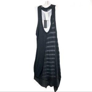Heather asymmetrical tee shirt tank dress